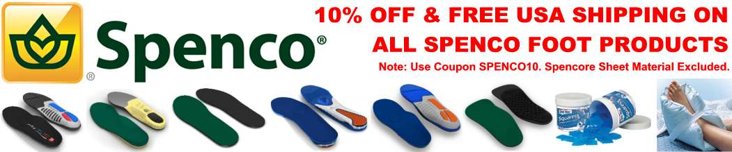 Free USA shipping on all Spenco footcare products